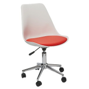 Solano Tulipa Office Chair White with Red Cushion