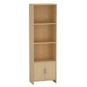 Living & Co Bookcase with Cupboard Birch Brown