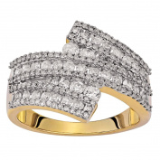 1 Carat of Diamonds 9ct Gold Diamond Crossover Ring