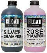 (2 PACK) Bleach London Silver Shampoo 250ml & Bleach London Rose Shampoo 250ml