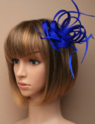 Allsorts Royal Blue Clip Feather Fascinator Wedding Ladies Day Race Royal Ascot