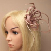 Allsorts Nude Clip Feather Fascinator Wedding Ladies Day Race Royal Ascot