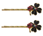 Pick A Gem Flower and Ladybird Hair Grips / Hair Cliips / Bobby Pins / Kirby Grips