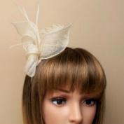Allsorts Cream Coiled Headband Aliceband Hat Fascinator Wedding Ladies Day Race Royal Ascot