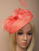 Allsorts Large Coral Headband Aliceband Hat Fascinator Wedding Ladies Day Race Royal Ascot
