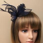 Allsorts Navy Blue Headband Aliceband Hat Fascinator Wedding Ladies Day Race Royal Ascot