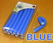 12 x SOFT BENDY TWIST HAIR HAIRDRESSING ROLLERS EVA FOAM CURLERS TWISTEE BENDER BLUE