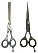 Professional Pet Grooming Hair cutting Scissors Shears - Hair Cutting Thinning Scissors BS Set - 15cm Razor Sharp Japanese Stainless Steel