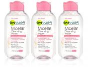 3x Garnier MICELLAR Cleansing Water Hypoallergenic Sensitive Skin 125ml