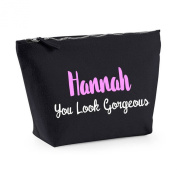 Personalised 'Name' You Look Gorgeous Statement Any Colours Friendship Gift Canvas MakeUp Bag Case Cosmetic Clutch