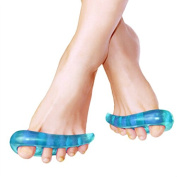 One Pair of Blue Toe Orthotics Silicone Toe Separator Spreader Correction Bunion Hallux Valgus Pain Relief