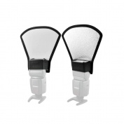 Universal Reflector Diffuser for Speedlight Two in One / Speedlite Hot Shoe Light Photography Flash