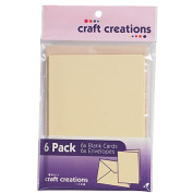 Craft Creations Card Pack White 6 Pack