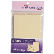 Craft Creations Card Packs Wheat 6 Pack