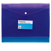 Deskwise Button Document Wallet A4 3 Pack