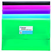Deskwise Expanding Document Wallet hook and loop Foolscap Assorted Colours