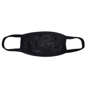 Zarapack Black Mysterious Silk Lace Mesh 2 layer Fashion Face Mask Mouth Mask Muffle