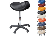 Saddle Stool on wheels, ergonomic, height adjustable with gas lift, many colours 360 ° rotatable, Medical stool