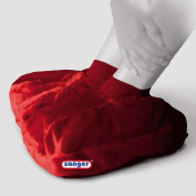 Plush Foot Warmer Hot Water Bottle 2 L Hot Water Bottle & Anklet Heat Therapy, Red