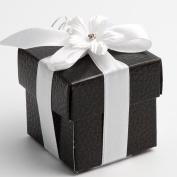 10 Black Pelle Square Box & Lid - 50x50x50mm - Wedding Favours Boxes