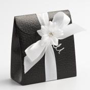 10 Black Pelle Sacchetto - 70x35x80mm - Wedding Favours Boxes