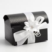 10 Black Pelle Cofanetto - 70x45x52mm - Wedding Favours Boxes