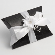 10 Black Pelle Bustina - 70x70x25mm - Wedding Favours Boxes