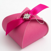 10 Fuchsia Silk Tortina - 55x55x50mm - Wedding Favours Boxes