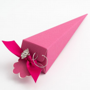 10 Fuchsia Silk Cone - 155mm - Wedding Favours Boxes