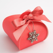10 Coral Silk - Tortina 55x55x50mm - Wedding Favours Boxes