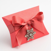 10 Coral Silk Bustina - 70x70x25mm - Wedding Favours Boxes