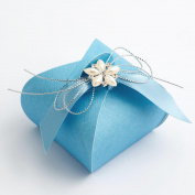10 Blue Silk Tortina - 55x55x50 - Wedding Favours Boxes
