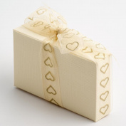 Ivory Silk Cake Box - 80x35x50mm - Wedding Favours