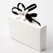 Small White Silk Cake Box - 80x35x50mm