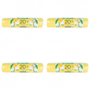 80 Lemon Fragrance Bin Liners Extra Strong Durable - Capacity 50 L - Scented Garbage Trash Bag