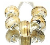 """Pack of 5 Silver-Plated Murano Beads for Pandora style """"the"""" Stardust"""