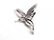 Solid Silver 925 hummingbird charm charm pendant fits on Links of London bracelet or necklace