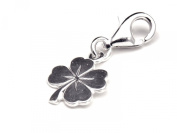 Genuine Solid Silver 925 clover leaf clip on charm ideal for Thomas Sabo bracelet or necklace