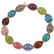 Alek Sander Murano Star Stars Murano Glass Flex Band Aventurine Quartz Women's Bracelet