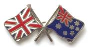 Great Britain & Australia Flags Friendship Courtesy Enamel Lapel Pin Badge