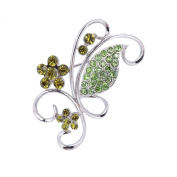 SENFAI Christmas Gift Synthetic Crystal Flower Breastpin Decoration Lady Jewellery Women Brooches and Pins