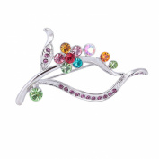 SENFAI Fashion Crystal Flower Brooch Lapel Pins Women Decorative Clothes Jewellery Multicolor Broches Bouquets