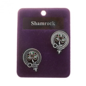 Heritage of Scotland Pewter Scottish Clan Round Cufflinks - Names N to W