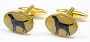 Soprano Black Labrador Gold Country Cufflinks