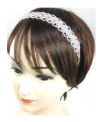 Mega Wide Head Band Hair Accessories Hair Band Bridal Jewellery Crystal Clear 5.1cm wide