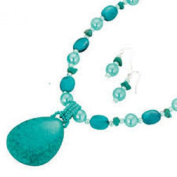 Avon Winnie Turquoise necklace & earrings gift set - silver plated