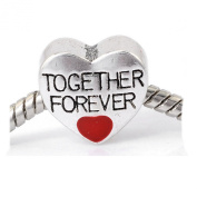 "SEXY SPARKLES Women's ""Together Forever Love "" Heart Charm"
