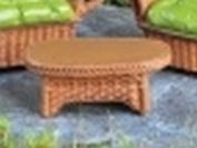 Wicker fairy garden or dolls house furniture