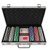 Oypla Poker Set - 300 Piece Complete With Casino Style Case