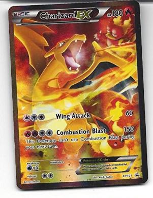 Pokemon JUMBO OVERSIZED Card Charizard ex XY121 Promo card Brand new